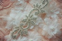 Wholesale Rhinestone Applique Beaded Applique for Bridal Sash Wedding Belt Bridal Headpiece Wedding Garters
