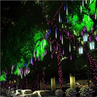 Colored Bulbs CCC Plastic 20cm Meteor Shower Rain Tubes String LED Christmas Fairy Lights For Wedding Decoration For Home Decor 100-240V EU US Plug