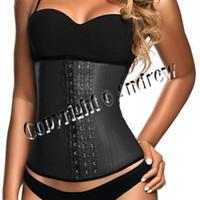Wholesale Sexy Underust Waist Cincher Rubber corsets Body Shape Wear Latex Look Bustier