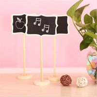 Wholesale Vertical Mini Wooden Message Blackboard Small Black Board Chalkboard Kawaii Brand New Wedding Party Decor Festa