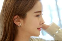 big clip earrings - Fashion Earing Big Crystal White Gold Silver Jewelry Daisy Flower Ear Clips Stud Earrings For Women gifts newest