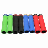 bicycle box parts - Bicycle Parts Bicycle Grips Bicycle Ergonomics Foam Grips Colors MTB Folding Bike NonSlip Sponge Locked Grips with Plugs Box Package