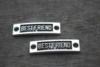 Charms antique fittings - 10 Best Friend Connector Best Friend Antique Silver or Bronze Fittings Accessories Jewelry Making Findings mm