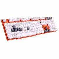 Al por mayor-Mejor Teclado USB Gaming con conexión de cable 104 Claves de silicona Mecánica Teclados Acero Soporte Gamer ergonómico teclado de ordenador Luom G100