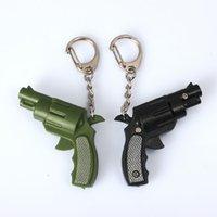 Wholesale The new small pistol luminous voice led keychain pendant creative jewelry simulation plastic toys