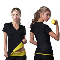 lycra t shirt - S XL Hot Body Shapers T shirt Hot Shapers Stretch Neoprene Slimming Vest Body Shaper Control Vest Tops
