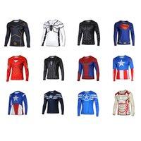 american captain costume - Batman Spiderman Venom Ironman Superman Captain American Winter Soldier Avengers Marvel DC Comics T shirt Superhero Costume Mens