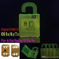 Wholesale R SIM R SIM plus RSIM Rsim10 Unlock Card for iphone s S S ios9 ios9 x G G CDMA SPRINT SB AU direct use no Rpatch