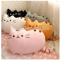 Cheap Novelty Soft Plush Stuffed Animal Doll Talking Anime Toy Pusheen cat pillow for Girl Kid Cute Cushion brinquedos 40*30