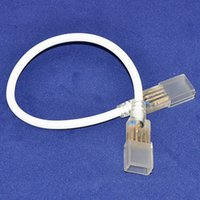 Wholesale 10pcs Middle plug cable connector for AC110V AC220V high voltage RGB Color pin SMD led strip light bulb Retail