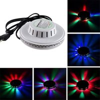 Wholesale 20pcs Sunflower Light UFO LED Laser Stage Lighting for Christmas Party Wedding Club Projector with US or EU Plug V