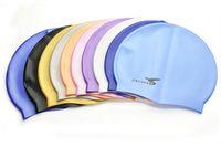 Wholesale 2015 Unisex Silicone Swimming Caps Adult Waterproof Swim Hats for Men Women Different Caps