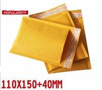 Envoltura de papel burbuja del papel de los sobres sobres envolturas paquete de envío 110x150mm + 40m m 100pcs / lot