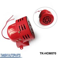 Wholesale Tansky high quality New V Motor Driven Red Air Raid Siren Horn Alarm Horn Car Truck TK HOM070