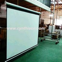 Wholesale Cynthia High Quality HD Fabric Wireless Remote Control Motorized Projector Screen Home Movie Cinema Luxury Motorised Screen