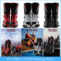 Wholesale New Model Motorcycle Boots Pro Biker SPEED Racing Boots Motocross Boot Motorbike Boots SIZE C14