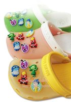 shoe charms - Hot Sale New Novelty Inside Out Cartoon PVC Shoe Charms For Fit Croc Bands Shoe Buckles Fit Bands Bracelets Kids Gifts Party Favors
