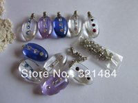 colored glass bottles - mixed colored crystal Perfume small mini rice jewelry vials fillable glass bottle pendant screw cap
