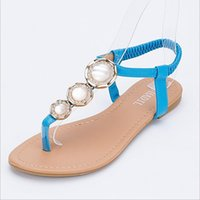 adhesive backing rubber feet - NEW Shoes Woman Rhinestone Female Sandals Fashion Flat Flip flop Foot Wrapping Casual Sandals Plus Size Female X