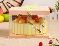 food packaging materials - Plastic material food grade plastic box PET round cake box packaging design