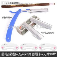 belt tool holder - Emperorship eyebrow card thruputs set belt eyebrow scissors eyebrow pencil blade tool holder eyebrow knife multiple set