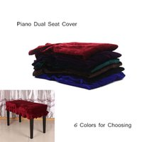 bench with seat - Piano Stool Chair Bench Cover Pleuche Decorated with Macrame Universal for Piano Dual Seat Bench Retail