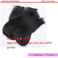 Wholesale Best sale skin wefts hair extensions length cm human hair Remy tape hair a piece g full head need g
