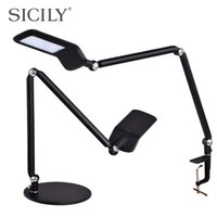 arm learning - SICILY long arm reading lamp LED touch dimmer lights clip to learn to write Eye office with folding