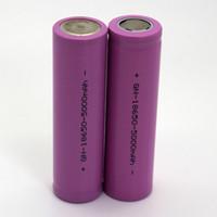 Wholesale High capacity battery Rechargeable Li ion Battery Flat Top mAh purple color for mechanical mods waitingyou
