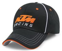 Wholesale MOTOGP Racing Cap Motorcycle F1 KTM Race Caps Cotton Sports Baseball Cap Black Orange Color For Men