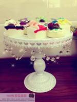 al por mayor placas de hierro frutos-Al por mayor-Hierro torta del metal decoración de la boda plato de soporte / bandeja de la torta / plato de fruta / bandeja de pasteles / tartas de huevo
