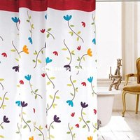 Wholesale Baby Cartoon Flower Plastic Shower Curtains With Hooks m Thick Waterproof Bathroom Decor Product