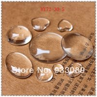 Wholesale mm mm Clear Round Glass Dome Cabochon Fit Cameo Settings