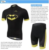 Wholesale 2015 New arrive men Cycling Batman printting hot sale Short sleeve anti pilling Compression tights Sports fast drying