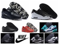 camo fabric - Nike air max VT all black oreo genuine leather men running shoes original quality camo airmax sport shoes plus size