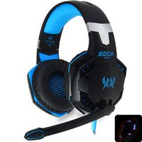Gaming Headset EACH G2000 Deep Bass Game Casque stéréo Surround Earband Earband Headband Earphone with Light pour ordinateur PC Gamer
