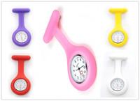 Wholesale New Pocket Medical Nurse Fob Watch Cute Silicone Nurse Brooch Clip on Pendant Hanging Quartz Watch DHL