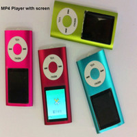 Wholesale Gift Mini MP4 Player inch HD screen video player AMV film function with butto support TF Card MP4 MP3 playe