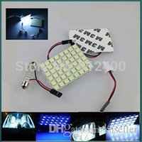 Wholesale 1set T10 Festoon led reading dome panel Light Car Interior Reading light white blue V Roof Light with Adapter Base A5