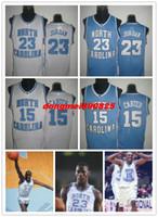 north carolina - Cheap NCAA college basketball jersey north Carolina Vince carter Jordan white blue pastor embroidery Logos jerseys