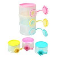 BPA Free baby milk powder - New Baby Milk Powder Container Dispenser Formula Babies Feeding Layer Portable Travel Case Feeding Supplies