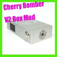 Cheap CHERRY BOMBER V2 BOX MOD diaplay screen LCD Mechanical Mod Clone Mod 510 Connector fit 18650 Battery for 510 thread DHL Free