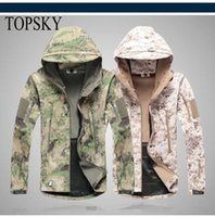 Wholesale Men s Tactical Hiking Jacket Lurker Shark Skin Soft Shell Outdoor Military Waterproof Windproof Army Camouflage Sports Clothing Color
