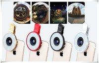 audio eyes - 3 mm Audio Jack phone Mobile Photograph Fill Light Mobile Phone LED Fill Light External universal wide angle fish eye lens