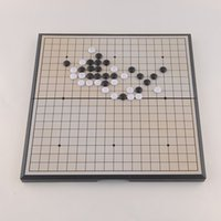 Wholesale High Quality Foldable Convenient Chess Game of Go Board Game Magnetic WeiQi Baduk Full Set x18 Size New