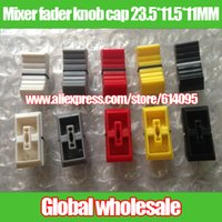 Wholesale Mixer fader knob cap output stage amplifier cap red yellow lime black MM