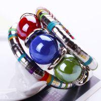 Wholesale 2015 Trendy Women Bracelets Fascinating Bangle Bracelets Fashion Jewelry With Beads Ornament B0237