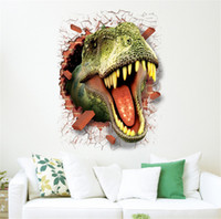 bathroom bedroom ideas - 3D cartoon wall stickers environmental protection easy remove the decorative wall stick dinosaurs originality wallpapers new ideas