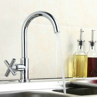 Wholesale Newly Design Swivel Kitchen Faucet Single Cold Basin Faucets Brass Tap