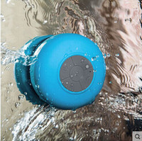 Wholesale Portable Waterproof Wireless Bluetooth Speaker Shower Car Handsfree Receive Call mini Suction phone IPX4 speakers box player colors